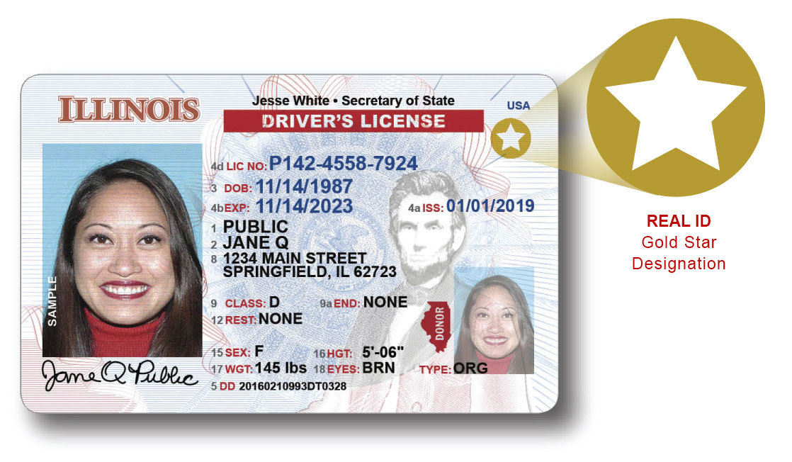 Illinois state issued REAL ID