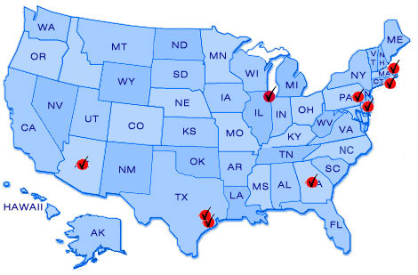 PreFlight Parking United States Map Locations